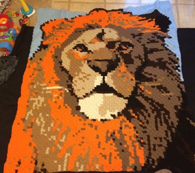 Mighty Lion Roams the Forrest Blanket