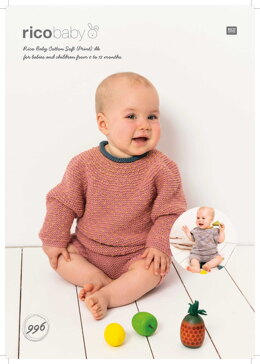 Sweater, Shirt and Shirts in Rico Baby Cotton Soft DK - 996 - Downloadable PDF