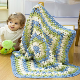 Hexagon Baby Blanket in Red Heart Eco-Ways - WR1806 - Downloadable PDF