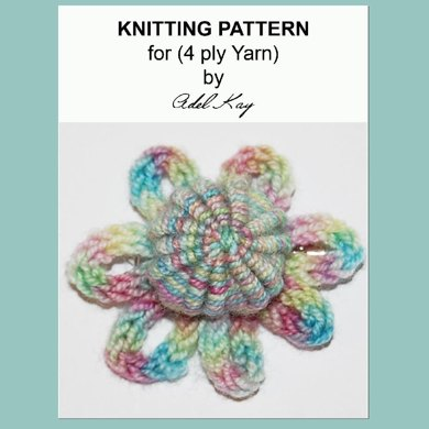 Antonia 17th 18th Century Yorkshire Needlework Button I-cord Corsage 4ply Sock Yarn Knitting Pattern by Adel Kay