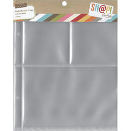 """Simple Stories Sn@p! Pocket Pages For 6""""X8"""" Binders 10/Pkg - (1) 4""""X6"""" & (2) 3""""X4"""" Pockets"""