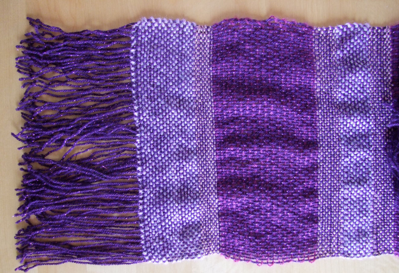 Woven Scarf1 Purplish Knitting Project By Eve W Loveknitting