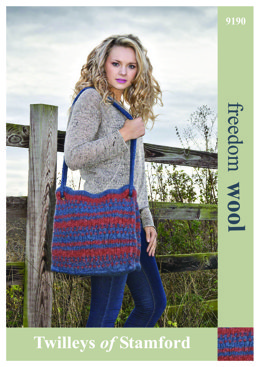 Knit Felted Bag in Twilleys Freedom Wool - 9190