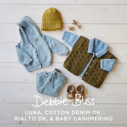 Baby Sport Jacket, Hoodie, Gilet, Joggers & Hat - Layette Knitting Pattern for Babies in Debbie Bliss - Downloadable PDF