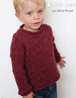 Boy's Sweater in Ella Rae Lace Merino Worsted - ER9-02 - Downloadable PDF