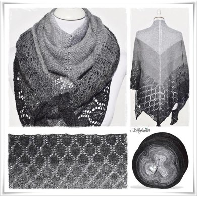 Knitting Pattern Lace Shawl Black Christmas Knitting Pattern By