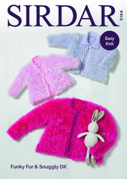 Jackets in Sirdar Funky Fur & Snuggly DK - 5166 - Downloadable PDF