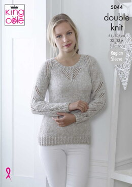 Sweater and Top in King Cole DK - 5044 - Downloadable PDF