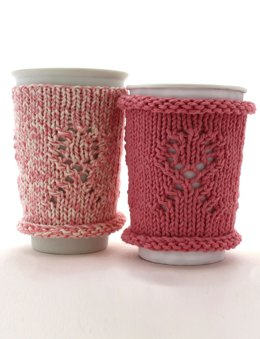 Breast Cancer Awareness Cup Cozy 1 in Bernat Handicrafter Cotton Solids