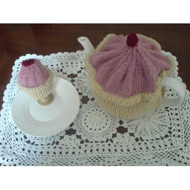 Cup Cake Tea & Egg Cosy Knitting pattern by Valerian ...