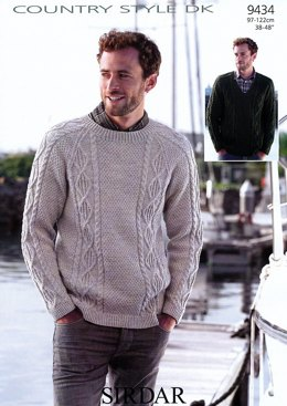Sweaters in Country Style DK - 9434