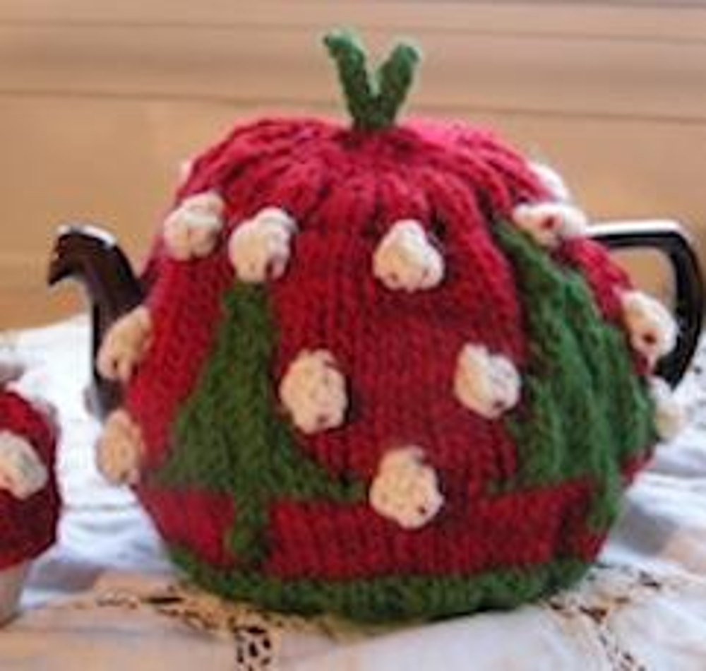 Christmas tree tea cosy and egg cosy knitting pattern by monica russel christmas tree tea cosy and egg cosy zoom bankloansurffo Choice Image