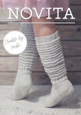 Crinkle Socks in Novita Nalle - Downloadable PDF