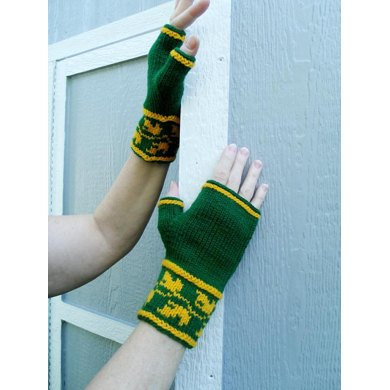 Leaf Cuff Mitts