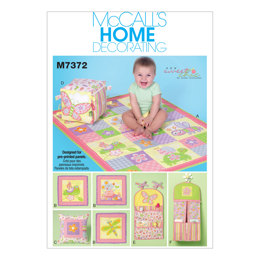 McCall's Nursery Blanket, Pillow and Organization Accessories M7372 - Sewing Pattern