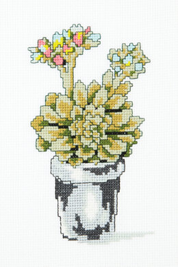 Flowering Succulent in DMC - PAT0098 - Downloadable PDF