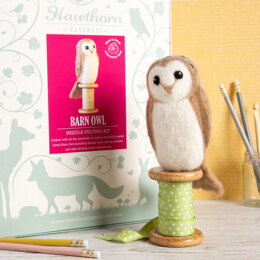 Hawthorn Handmade Barn Owl Needle Felting Kit