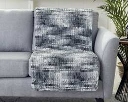 Spaced Garter Ridge Blanket in Bernat Alize Blanket-EZ - Downloadable PDF