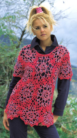 Rosella Pullover in Adriafil Fruit and Nature - Downloadable PDF