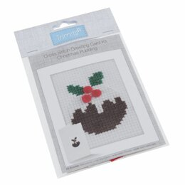 Groves Cross Stitch Kit: Card: Christmas Pudding