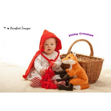 Little red riding hood baby photo prop