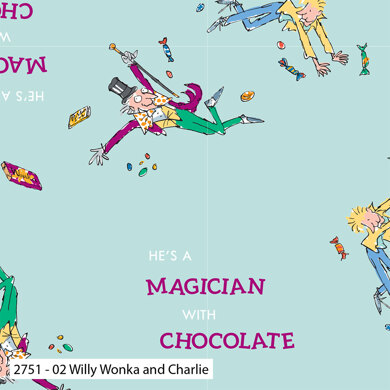 Craft Cotton Company Charlie and the Chocolate Factory - Willy Wonka and Charlie