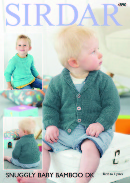 Sweater & Cardigan in Sirdar Snuggly Baby Bamboo DK - 4890 - Downloadable PDF