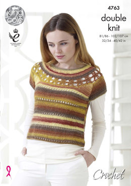 Top & Accessories in King Cole Riot DK - 4763 - Leaflet