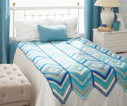 Granny With Radiant Stripes Blanket in Caron Simply Soft and Simply Soft Brites - Downloadable PDF