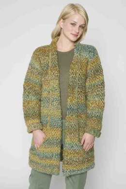 Flattering Jacket in Lion Brand Homespun - 60090AD