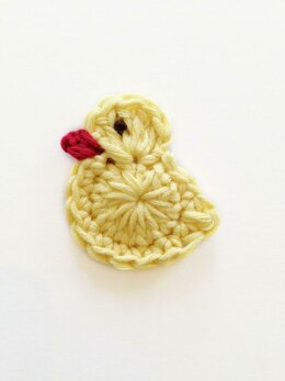 Easter chick duck applique