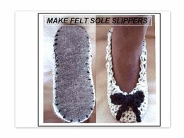 706 CROCHET SLIPPERS ON FELT INSOLES