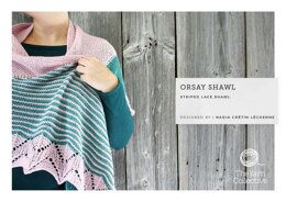 Orsay Shawl in The Yarn Collective Rivoli Sport - Downloadable PDF