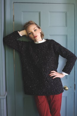 Easy Knit Sweater in Debbie Bliss Luxury Tweed Chunky - TFT01