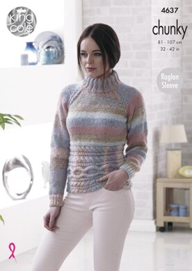 Sweater & Cardigan in King Cole Cotswold Chunky - 4637 - Downloadable PDF