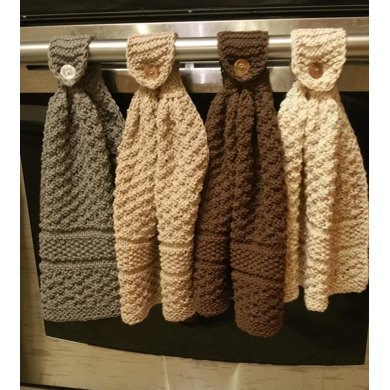 Free Crochet Patterns For Hanging Kitchen Towels : Knitted hanging kitchen towels Knitting pattern by Dixie S