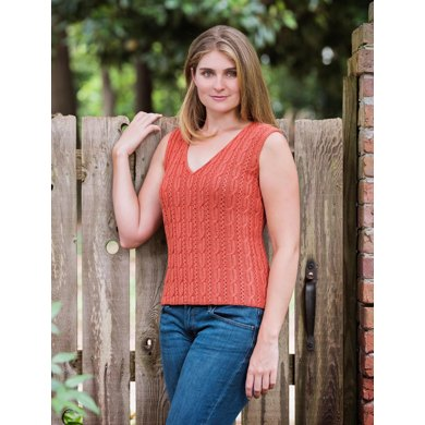 Cable and Openwork Vest - #179