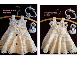 555, Girl's Sundress or Jumper, Picot Edge with Straps