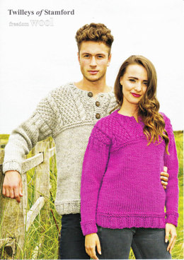 Guernsey Style Sweater in Twilleys Freedom Wool