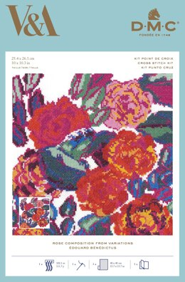 DMC Rose Composition from Variations Cross Stitch Kit