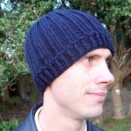 Knit-Look Ribbed Beanie