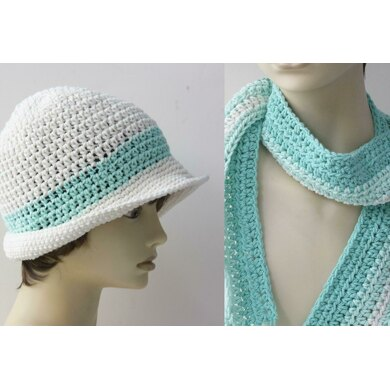 Cotton Sun Hat and Scarf