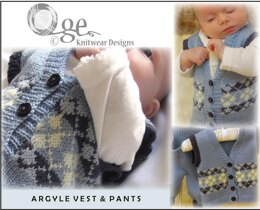 Baby Argyle Vest and Pants - P027