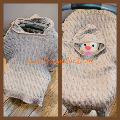 Little Mouse Car Seat Poncho