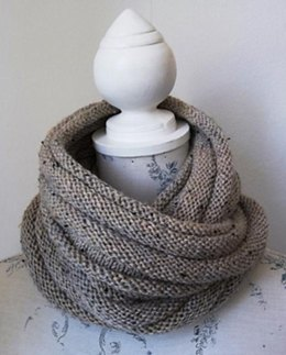 Simple Aran Tweed Cowl