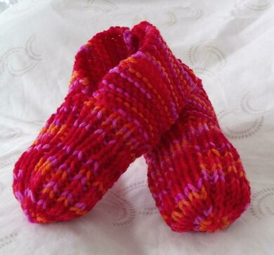 How to Knit Child Slippers