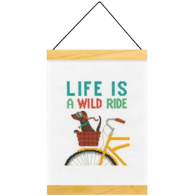 Dimensions Life is a Wild Ride Cross Stitch Kit