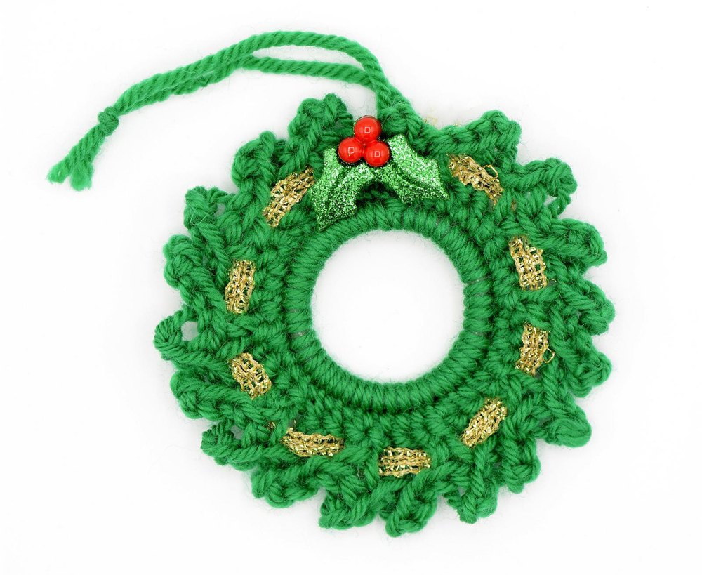 Knitted Wreath Ornament Knitting Pattern By Mnauthor