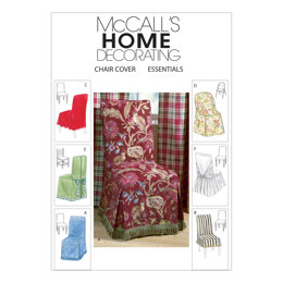 McCall's Chair Cover Essentials M4404 - Paper Pattern Size One Size Only