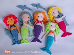 Amigurumi Mermaid Doll & Dolphin
